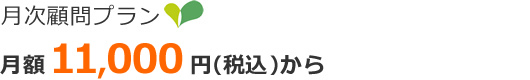 月額 10,000円(税別)から